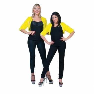 Goedkope geel nepbonten jasje voor dames