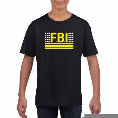 Goedkope geheim politie agent shirt zwart voor kinderen