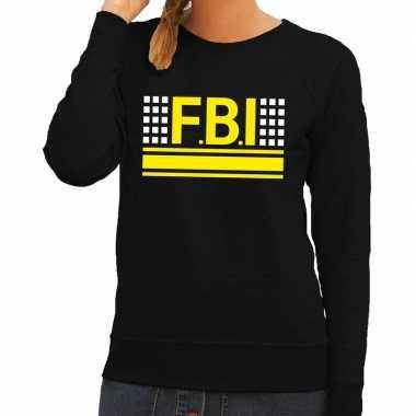 Goedkope geheim politie agent sweater / trui zwart voor dames