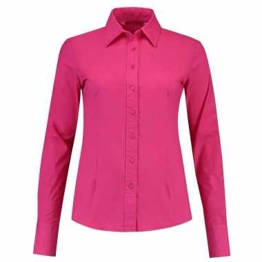 Goedkope gekleurd dames overhemd met lange mouwen