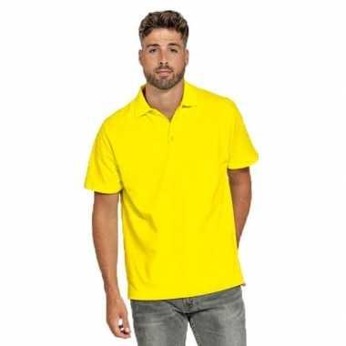 Goedkope gele poloshirt voor heren
