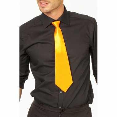 Goedkope gele verkleed stropdassen 41 cm voor dames/heren