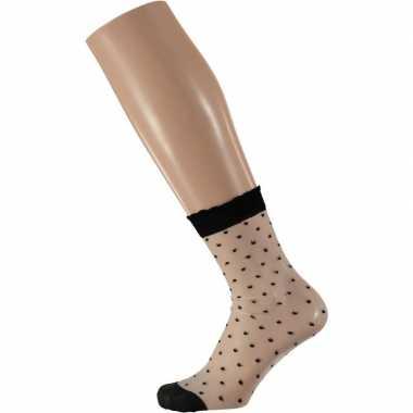 Goedkope gestippelde panty sokken voor dames