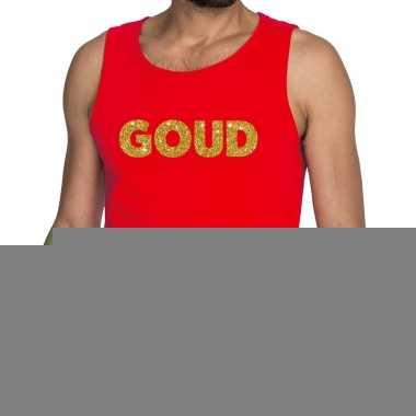 Goedkope goud fun tanktop / mouwloos shirt rood voor heren