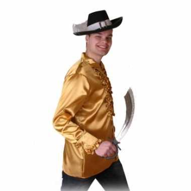 Goedkope goud heren piraten overhemd
