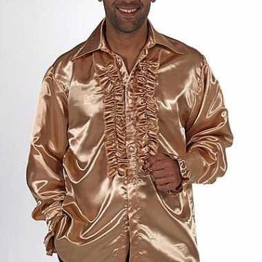 Goedkope gouden overhemd voor heren