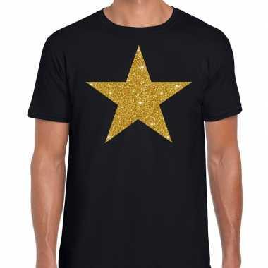 Goedkope gouden ster fun t shirt zwart voor heren
