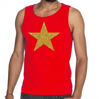 Goedkope gouden ster fun tanktop / mouwloos shirt rood voor heren