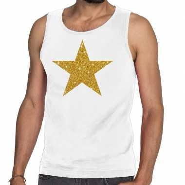 Goedkope gouden ster fun tanktop / mouwloos shirt wit voor heren