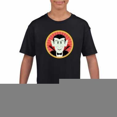 Goedkope graaf dracula halloween t shirt zwart voor jongens en meisje