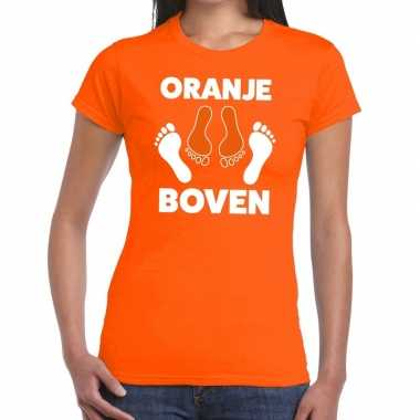 Goedkope grappig oranje boven t shirt voor koningsdag of het ek/wk vo