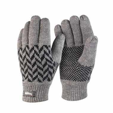 Goedkope grijs met zwarte result handschoenen