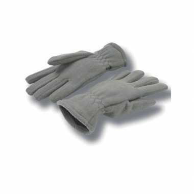 Goedkope grijze handschoenen fleece voor dames/heren