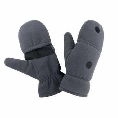 Goedkope grijze wanten/handschoenen voor dames/heren