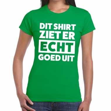 Goedkope groen feest t shirt dit shirt ziet er echt goed uit groen vo