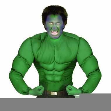 Goedkope groen spierballen shirt voor heren