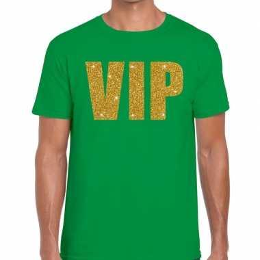 Goedkope groen vip goud fun t shirt voor heren