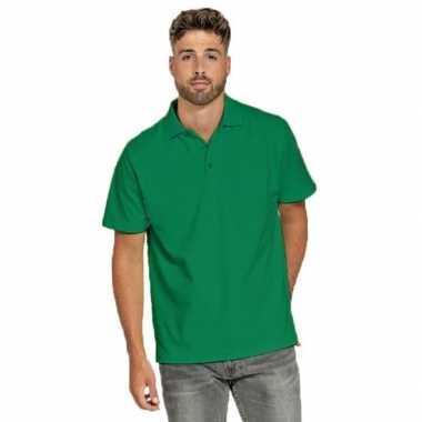 Goedkope groene poloshirt voor heren