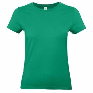 Goedkope groene shirt met ronde hals voor dames