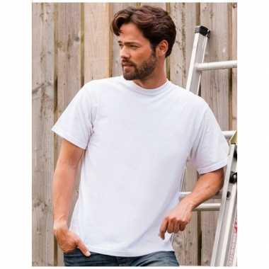 Goedkope grote maat heren t shirts maat 4xl wit