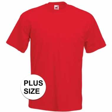 Goedkope grote maten basis heren t shirt rood met ronde hals