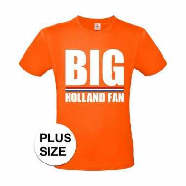 Goedkope grote maten big holland fan shirt oranje heren