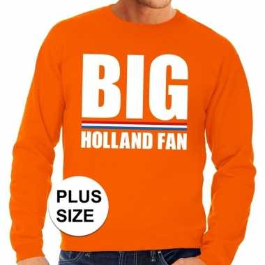 Goedkope grote maten big holland fan trui oranje heren