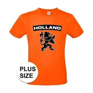 Goedkope grote maten holland shirt met zwarte leeuw shirt oranje here