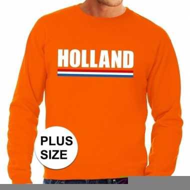 Goedkope grote maten hollandse supporter trui oranje heren