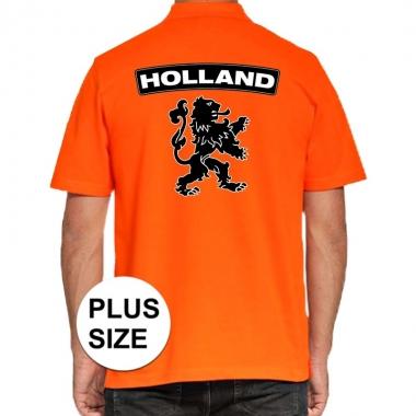 Goedkope grote maten koningsdag polo t shirt oranje holland met grote