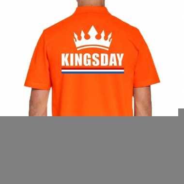 Goedkope grote maten koningsdag polo t shirt oranje kingsday voor her