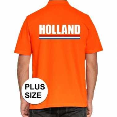 Goedkope grote maten polo holland t shirt oranje kingsday voor heren