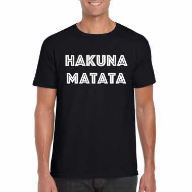 Goedkope hakuna matata fun t shirt zwart voor heren