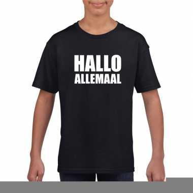 Goedkope hallo allemaal fun t shirt zwart voor kinderen