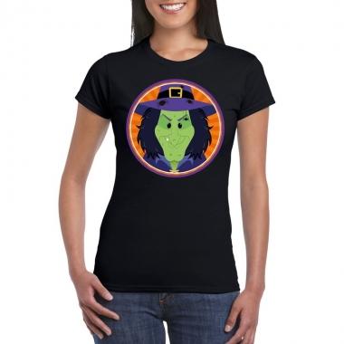 Goedkope halloween heksen shirt zwart dames