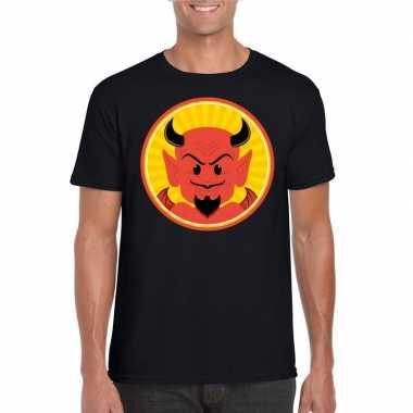 Goedkope halloween shirt zwart heren rode duivels