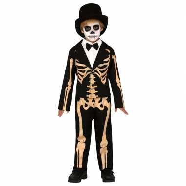 Goedkope halloween skelet broek met colbert voor kinderen
