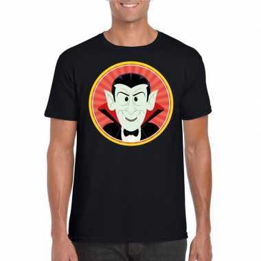 Goedkope halloween vampieren shirt zwart heren