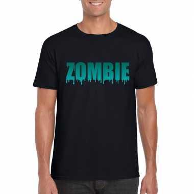 Goedkope halloween zombie shirt zwart heren 10122342