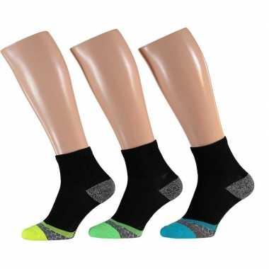 Goedkope hardloop sport sokken 3 pak voor volwassenen