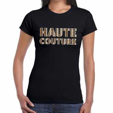 Goedkope haute couture slangen print fun t shirt zwart voor dames