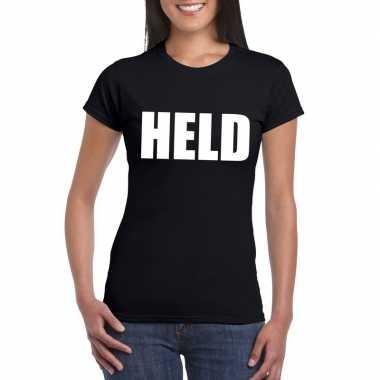 Goedkope held fun t shirt zwart voor dames