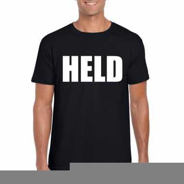Goedkope held fun t shirt zwart voor heren