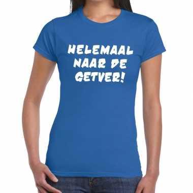 Goedkope helemaal naar de getver fun t shirt blauw voor dames