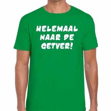 Goedkope helemaal naar de getver fun t shirt groen voor heren
