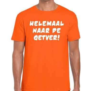 Goedkope helemaal naar de getver fun t shirt oranje voor heren