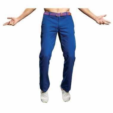 Goedkope heren feest broek blauw
