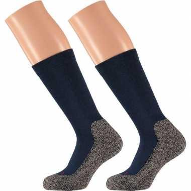 Goedkope heren hiking sokken blauw 42/45