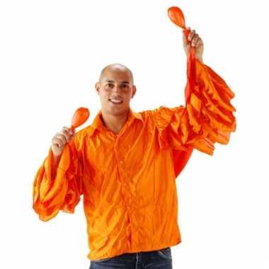 Goedkope heren rouche shirt oranje