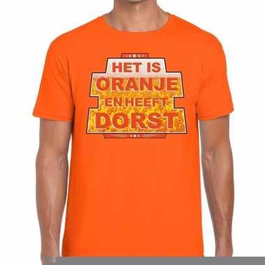 Goedkope het is oranje en heeft dorst t shirt oranje heren
